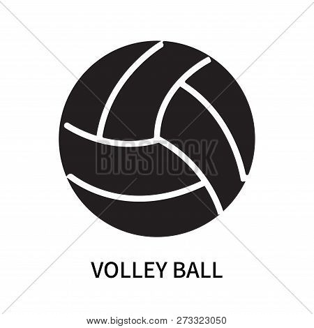 Volley Ball Icon Isolated On White Background. Volley Ball Icon Simple Sign. Volley Ball Icon Trendy