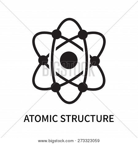 Atomic Structure Icon Isolated On White Background. Atomic Structure Icon Simple Sign. Atomic Struct