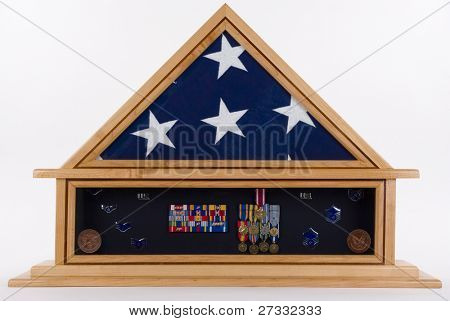 Shadow Box of an American military hero