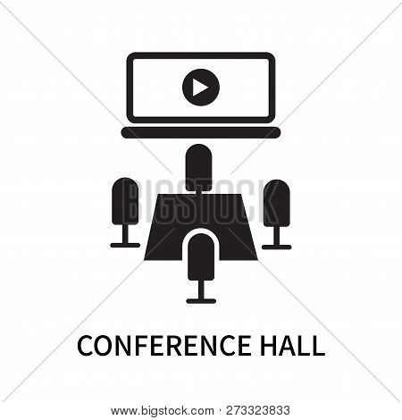 Conference Hall Icon Isolated On White Background. Conference Hall Icon Simple Sign. Conference Hall