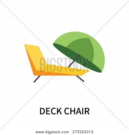 Deck Chair Icon Isolated On White Background. Deck Chair Icon Simple Sign. Deck Chair Icon Trendy An