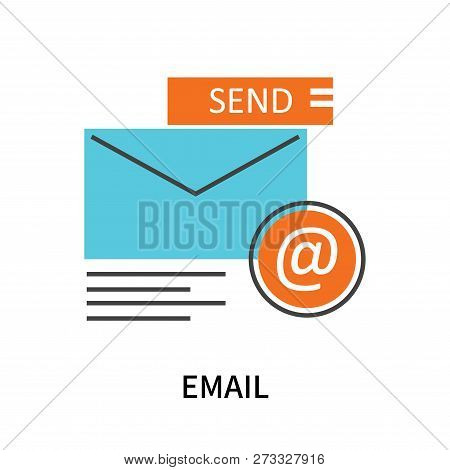Email Icon Isolated On White Background. Email Icon Simple Sign. Email Icon Trendy And Modern Symbol