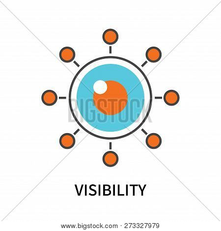 Visibility Icon Isolated On White Background. Visibility Icon Simple Sign. Visibility Icon Trendy An