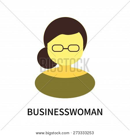 Businesswoman Icon Isolated On White Background. Businesswoman Icon Simple Sign. Businesswoman Icon