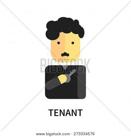 Tenant Icon Isolated On White Background. Tenant Icon Simple Sign. Tenant Icon Trendy And Modern Sym