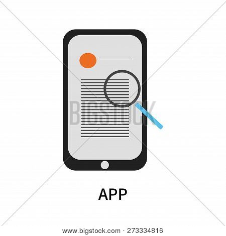 App Icon Isolated On White Background. App Icon Simple Sign. App Icon Trendy And Modern Symbol For G
