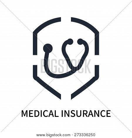 Medical Insurance Icon Isolated On White Background. Medical Insurance Icon Simple Sign. Medical Ins