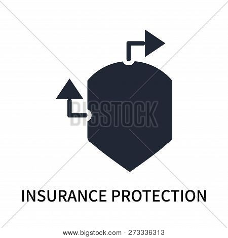 Insurance Protection Icon Isolated On White Background. Insurance Protection Icon Simple Sign. Insur