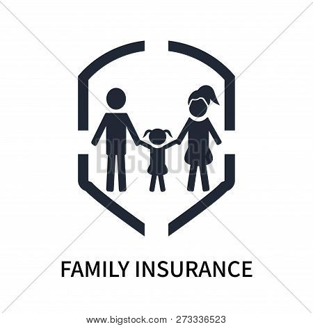 Family Insurance Icon Isolated On White Background. Family Insurance Icon Simple Sign. Family Insura