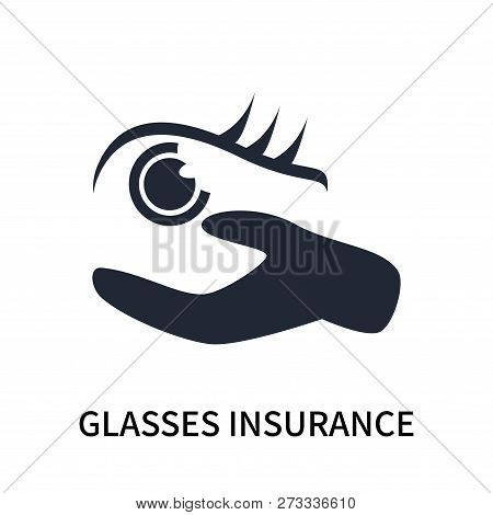 Glasses Insurance Icon Isolated On White Background. Glasses Insurance Icon Simple Sign. Glasses Ins