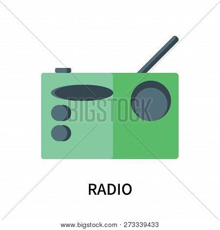 Radio Icon Isolated On White Background. Radio Icon Simple Sign. Radio Icon Trendy And Modern Symbol