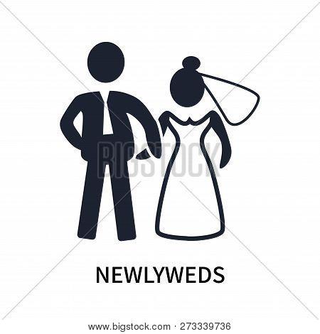 Newlyweds Icon Isolated On White Background. Newlyweds Icon Simple Sign. Newlyweds Icon Trendy And M