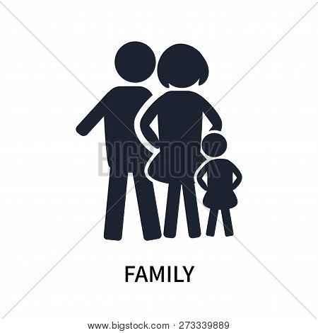 Family Icon Isolated On White Background. Family Icon Simple Sign. Family Icon Trendy And Modern Sym