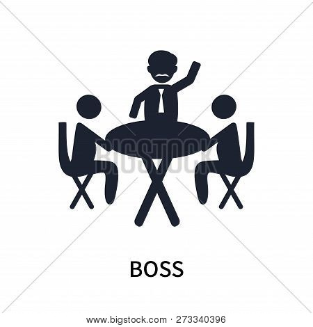 Boss Icon Isolated On White Background. Boss Icon Simple Sign. Boss Icon Trendy And Modern Symbol Fo