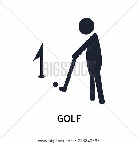 Golf Icon Isolated On White Background. Golf Icon Simple Sign. Golf Icon Trendy And Modern Symbol Fo