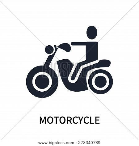 Motorcycle Icon Isolated On White Background. Motorcycle Icon Simple Sign. Motorcycle Icon Trendy An