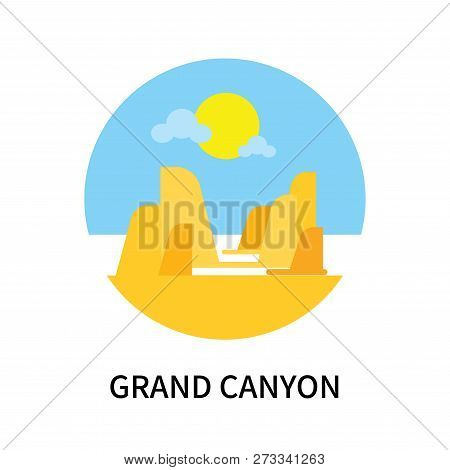 Grand Canyon Icon Isolated On White Background. Grand Canyon Icon Simple Sign. Grand Canyon Icon Tre