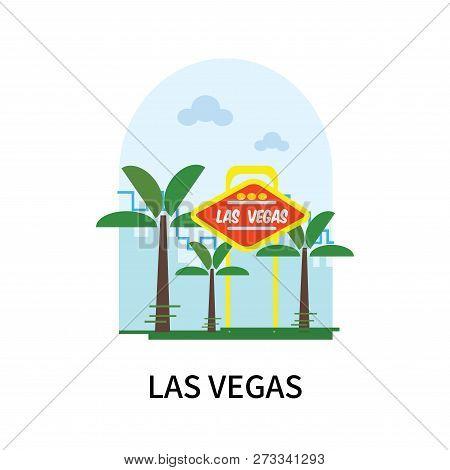 Las Vegas Icon Isolated On White Background. Las Vegas Icon Simple Sign. Las Vegas Icon Trendy And M