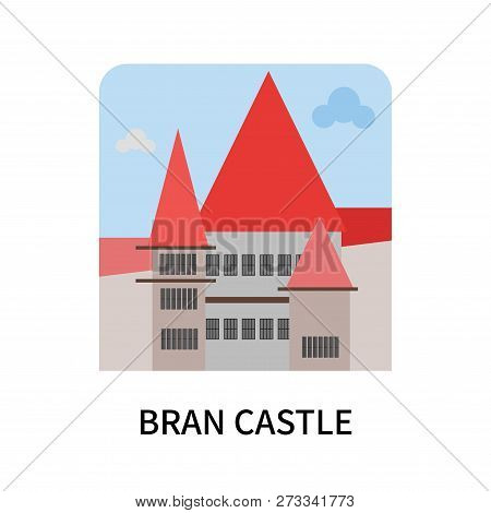 Bran Castle Icon Isolated On White Background. Bran Castle Icon Simple Sign. Bran Castle Icon Trendy