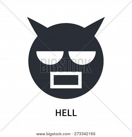 Hell Icon Isolated On White Background. Hell Icon Simple Sign. Hell Icon Trendy And Modern Symbol Fo