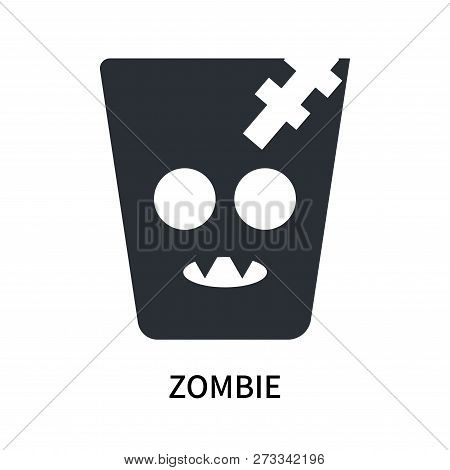 Zombie Icon Isolated On White Background. Zombie Icon Simple Sign. Zombie Icon Trendy And Modern Sym