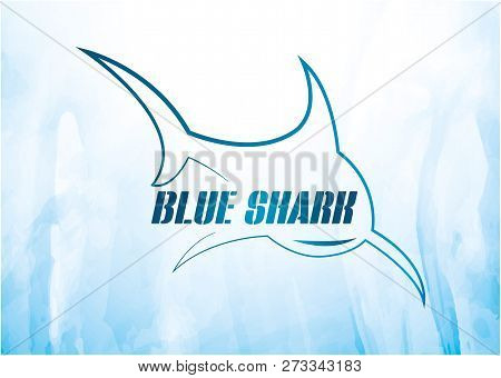 Blue Shark Logo Vector, Shark , Shark Swimming