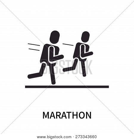 Marathon Icon Isolated On White Background. Marathon Icon Simple Sign. Marathon Icon Trendy And Mode