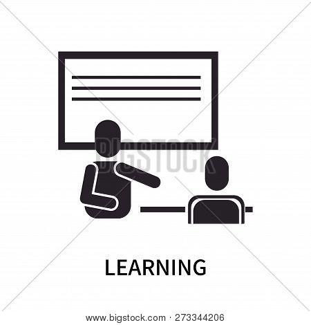 Learning Icon Isolated On White Background. Learning Icon Simple Sign. Learning Icon Trendy And Mode