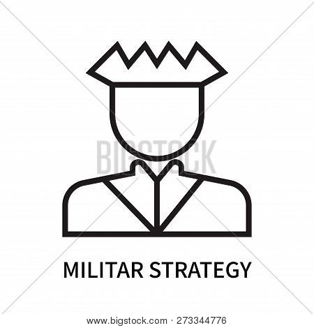 Militar Strategy Icon Isolated On White Background. Militar Strategy Icon Simple Sign. Militar Strat