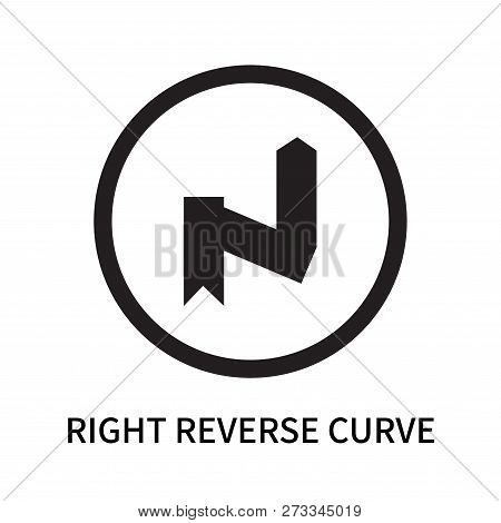 Right Reverse Curve Icon Isolated On White Background. Right Reverse Curve Icon Simple Sign. Right R