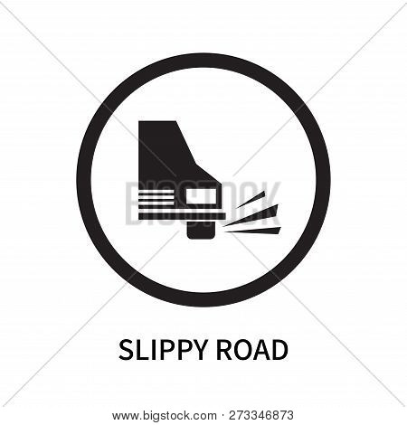 Slippy Road Icon Isolated On White Background. Slippy Road Icon Simple Sign. Slippy Road Icon Trendy