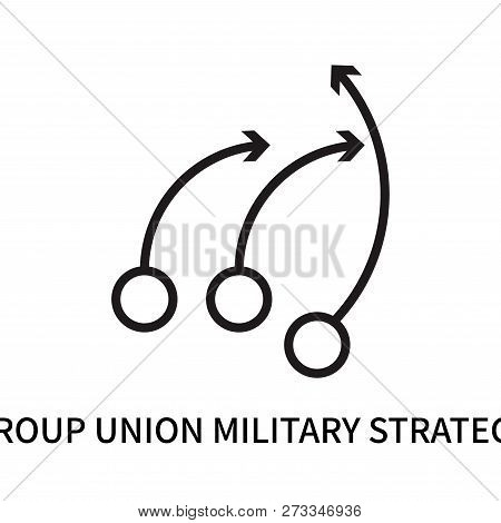 Group Union Military Strategy Icon Isolated On White Background. Group Union Military Strategy Icon