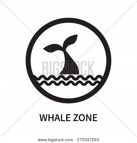Whale Zone Icon Isolated On White Background. Whale Zone Icon Simple Sign. Whale Zone Icon Trendy An