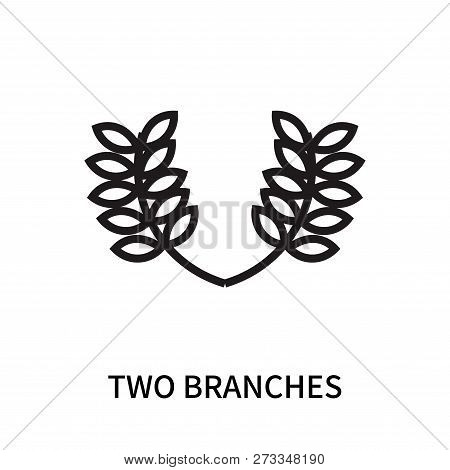 Two Branches Icon Isolated On White Background. Two Branches Icon Simple Sign. Two Branches Icon Tre