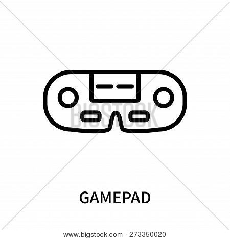 Gamepad icon isolated on white background. Gamepad icon simple sign. Gamepad icon trendy and modern symbol for graphic and web design. Gamepad icon flat vector illustration for logo, web, app, UI. poster