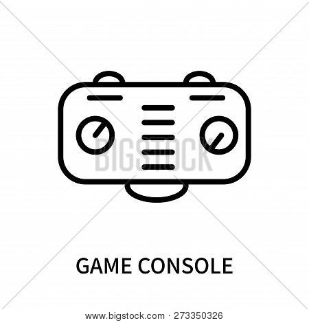 Game Console Icon Isolated On White Background. Game Console Icon Simple Sign. Game Console Icon Tre