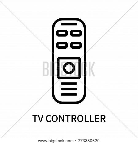 Tv Controller Icon Isolated On White Background. Tv Controller Icon Simple Sign. Tv Controller Icon