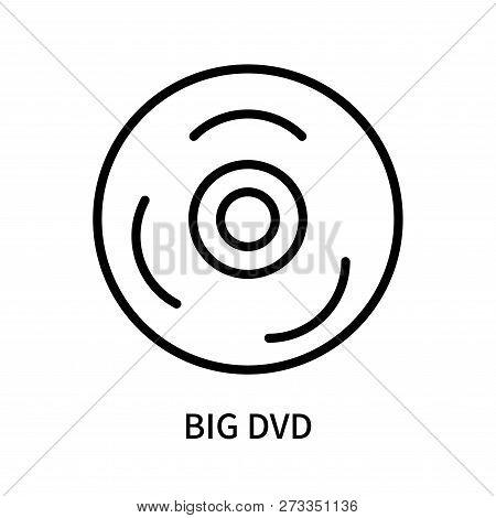 Big Dvd Icon Isolated On White Background. Big Dvd Icon Simple Sign. Big Dvd Icon Trendy And Modern
