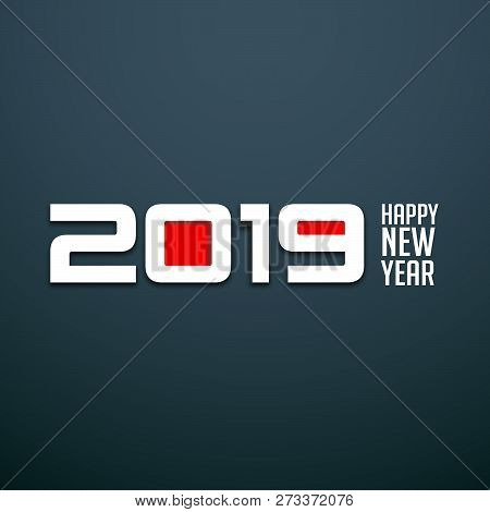 2019 On White Background, 2019 New Year, Happy New Year 2019, New Year 2019, Numeral 2019, 2019 Crea