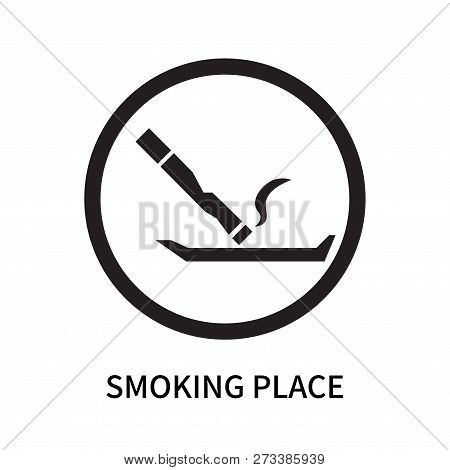 Smoking Place Icon Isolated On White Background. Smoking Place Icon Simple Sign. Smoking Place Icon
