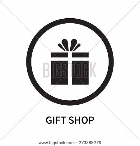 Gift Shop Icon Isolated On White Background. Gift Shop Icon Simple Sign. Gift Shop Icon Trendy And M