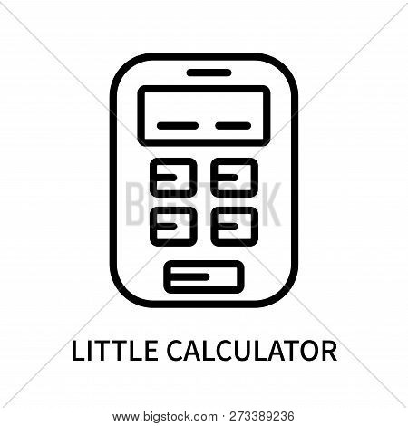 Little Calculator Icon Isolated On White Background. Little Calculator Icon Simple Sign. Little Calc