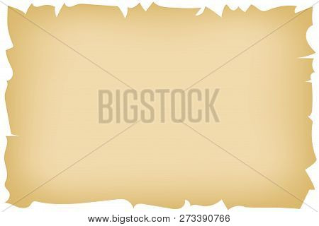 Vintage Background Imitating Brown Burnt Old Paper With Ragged Edges For Designing Old-fashion Illus