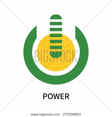 Power Icon Isolated On White Background. Power Icon Simple Sign. Power Icon Trendy And Modern Symbol