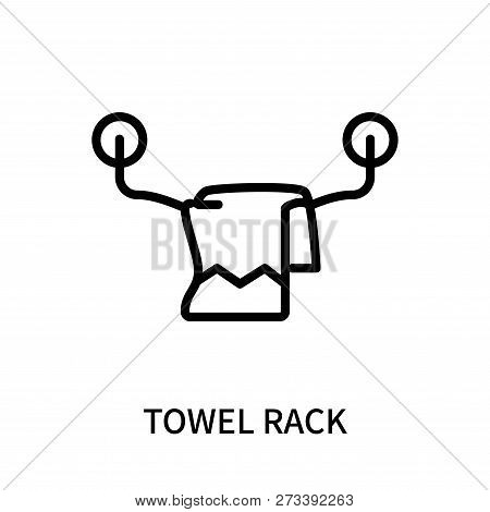 Towel Rack Icon Isolated On White Background. Towel Rack Icon Simple Sign. Towel Rack Icon Trendy An