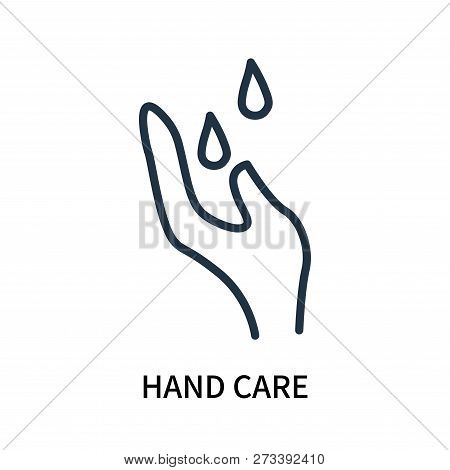 Hand Care Icon Isolated On White Background. Hand Care Icon Simple Sign. Hand Care Icon Trendy And M