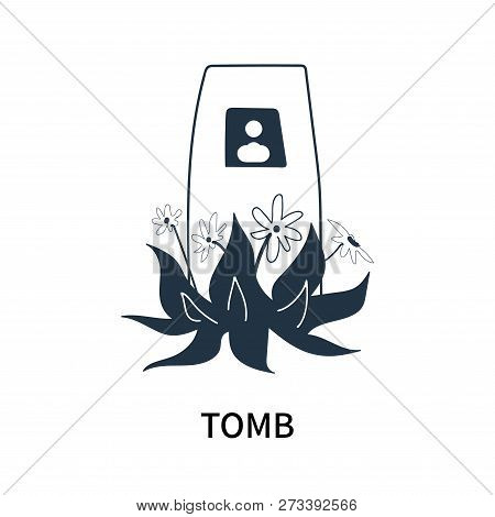 Tomb Icon Isolated On White Background. Tomb Icon Simple Sign. Tomb Icon Trendy And Modern Symbol Fo