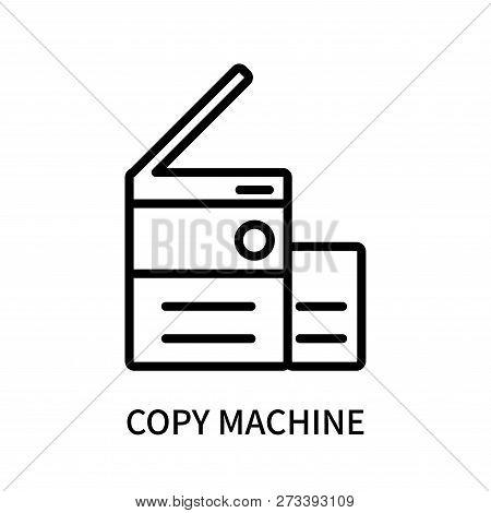 Copy Machine Icon Isolated On White Background. Copy Machine Icon Simple Sign. Copy Machine Icon Tre