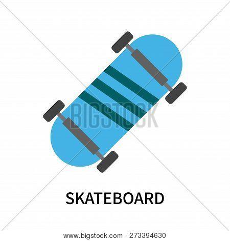 e8ce671c5e3e0 Skateboard Icon Isolated On White Background. Skateboard Icon Simple Sign.  Skateboard Icon Trendy An