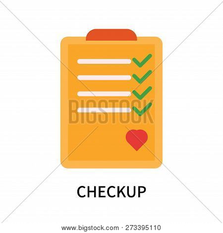 Checkup Icon Isolated On White Background. Checkup Icon Simple Sign. Checkup Icon Trendy And Modern